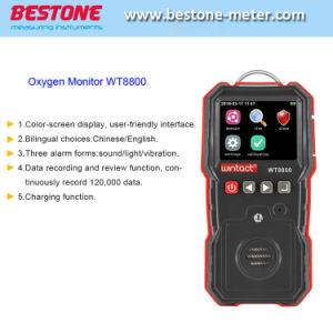 Detector de Gas portátil para el O2, el medidor de gas, el color del monitor de oxígeno en la pantalla WT8800