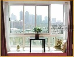 Finestra di scivolamento di alluminio del telaio del balcone tre
