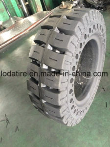 21X8X15 Betätigen-auf Vollreifen, feste Schienen-Ochse-Ladevorrichtungs-Gummireifen