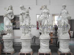 Pierre à sculpter la statue sculpture de marbre pour la décoration de jardin (sy-X1183)