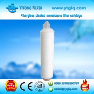 Cartouche de filtre à membrane plissé en fibre de verre