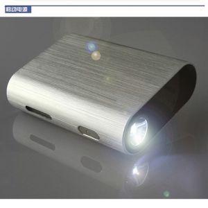 -6000Portable 3000mAh mAh rectángulo Logotipo del Banco de potencia disponible personalizable (OM-PW029)