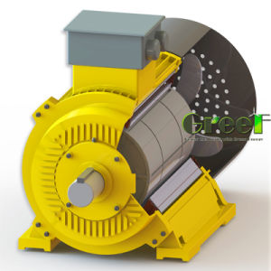 Flujo radial del alternador magnético permanente
