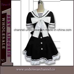 Commerce de gros carton Anime Fancy Dress adulte Maid cosplay costume (cuillerée à soupe143)