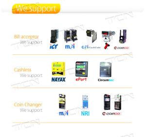 Ecrã táctil de venda de bebidas quentes e máquina de venda automática de bebidas frias