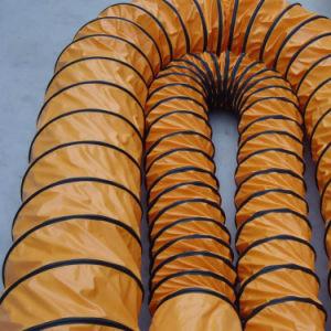 Résistant à la chaleur Spirale en acier tressé haute Stretch PU flexible à air de ventilation