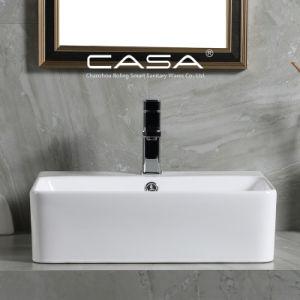 La porcelaine sanitaire Salle de Bain lavabo en céramique Rectangle navire lavabo