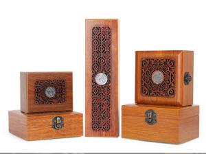 Caixa de comida de madeira Vinho Madeira Bracelete Caixa de Embalagem Caixa de madeira