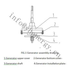 Pequeno chinês 10W 20W 30W 50W 12V/24V Genrator Preço da turbina eólica