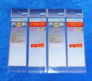 Bolsos Uno mismo-Adheridos del embalaje de OPP con las tarjetas de la impresión