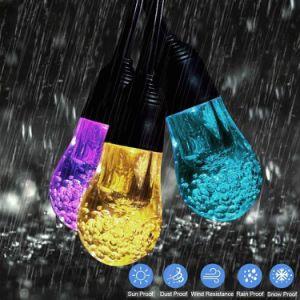 Zonne LEIDENE van de Lichten 12PCS van het Koord Gloeilampen Waterdicht met Kristal