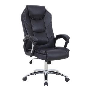 柔らかいのどの革カバー旋回装置のオフィスの管理の主任の椅子(FS-2008)
