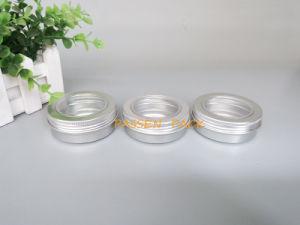 contenitore di alluminio del metallo 2oz con il coperchio della vite della finestra dell'animale domestico (PPC-ATC-60)
