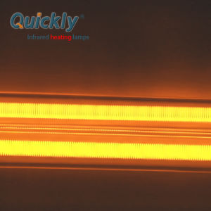 O Revestimento Branco porcelana do tubo de aquecimento infravermelho de quartzo para forno de infravermelhos