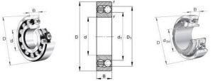 Rolete Auto-alinhante/cone do rolamento de esferas de entrada profunda/22319 22320 22322 22324