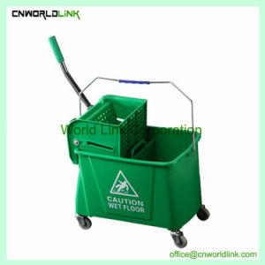 Gebäude-Fußboden-Reinigungs-Produktions-Plastikmopp-Laufkatze-Presse