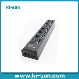 Тонкий портативный 7 USB-концентратор USB 3.0