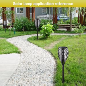 Bright Perfect Design Backyard Flower Lawn Solar Changing Flame Light