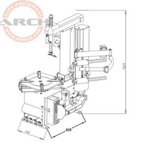 Cambiador de neumáticos para coches de equipo automotriz cambiador de neumáticos con Ce (AAE-C310BI)