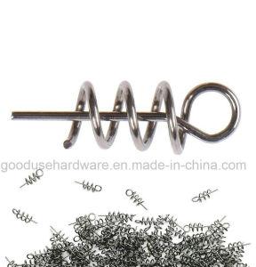 Pin concentrante di pesca della serratura di torsione di Pin di molla del metallo dell'amo esterno della manovella per la manovella molle della vite senza fine dell'esca di richiamo