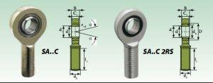 Los extremos de varilla rosca hembra para cilindro neumático