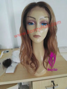 100% Remy Cheveux humains indiens main liée hair extension Full Lace Wig