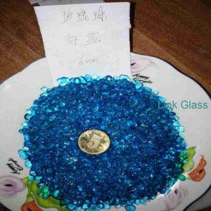 El paisajismo astillas de vidrio triturado/Cristales rotos y las partículas de cristal