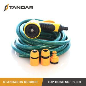 Baixa Temperatura reforçados com fibras de PVC mangueira de jardim