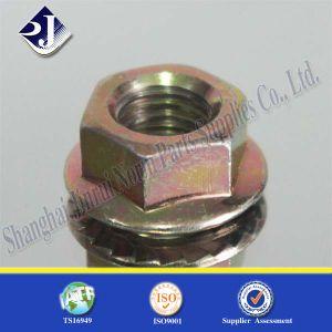 Noix Hex jaune de bride du zinc 3+