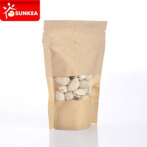 Biodegradierbares Kraftpapier Paper Ziplock Bag mit Plastic Window