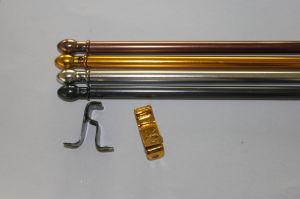 De aangepaste Staaf van het Gordijn van het Aluminium van de Pijp van het Aluminium van 6m