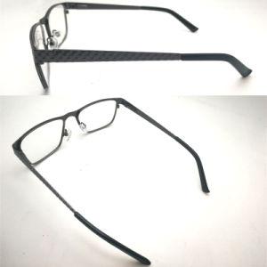 Optische Frame van het Metaal van het Roestvrij staal van de Bril van de Glazen van Eyewear van Fation het Optische met de Scharnier van de Lente voor Mensen