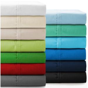 Pulido de estilo americano microfibra Color sólido conjunto de hojas de ropa de cama de inicio