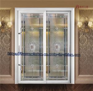 Portello di entrata di alluminio interno del portello scorrevole di profilo di colore grigio del fluorocarburo