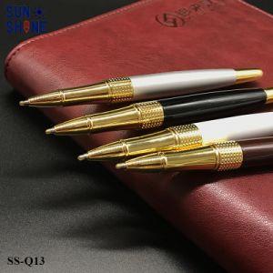 호화스러운 금속 롤러 펜에 의하여 주문을 받아서 만들어진 로고는 잉크 펜을 새긴다