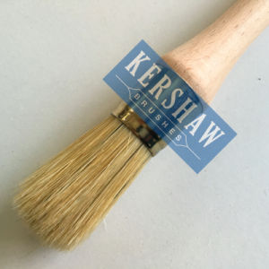 Rundes Brush (Paintbrush mit Pure White Borste und harter hölzerner Handgriff, flach-runde Bürste)