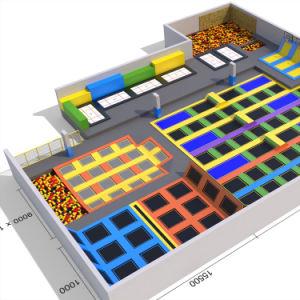 محترفة رياضيّ كبيرة داخليّة [ترمبولين] متنزّه يستعمل [ترمبولين] لأنّ عمليّة بيع