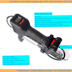 21V Batería de Ion Litio la pistola de engrase con pantalla LCD