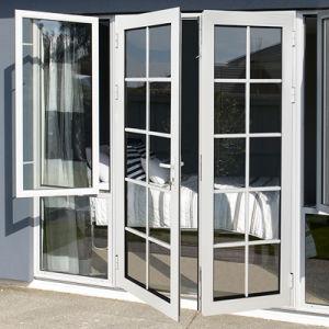 Profil en aluminium trempé Glas extérieur porte à battants