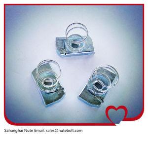 Acier inoxydable 316 (A4) , 304 (A2) , l'écrou de canal d'acier, ressort de l'écrou, avec le ressort court M18