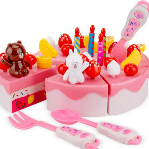 Venda a quente Bolo de aniversário de plástico brinquedo fingir Reproduzir