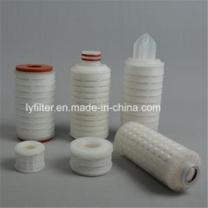 Cartuchos de filtro de aire Mini Politetrafluoroetileno hidrofóbico de 0,2 micras de PTFE para estéril filtrado de gases de la industria de alimentos y bebidas