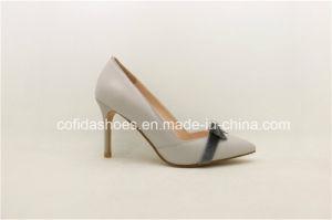 La moda Sexy medio cuero de Tacón Zapatos de dama
