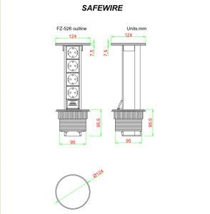 Lo zoccolo della mobilia/collegare modulare/schiocca in su lo zoccolo Liftable con RoHS