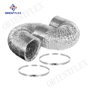 Secador de flexible de aluminio de la manguera de ventilación