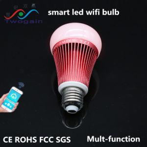 Aluminio mayorista 8W E27 Smart RGB de la caja de iluminación LED Lámpara de WiFi inteligente de ahorro de energía de la luz de lámpara de 220V