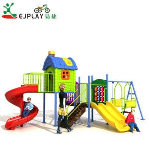 As crianças de tamanho pequeno parque infantil plástica deslize de Diversões parque ao ar livre