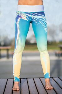 La sublimazione su ordinazione delle signore ha stampato l'usura di ginnastica di yoga di sport