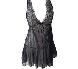 Custom sexy vestido transparente de la mujer lencería erótica