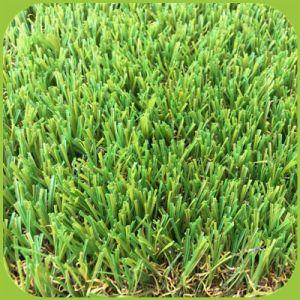 Wohnrasen-künstliches Garten-Gras für Landschaftschemiefasergewebe-Rasen